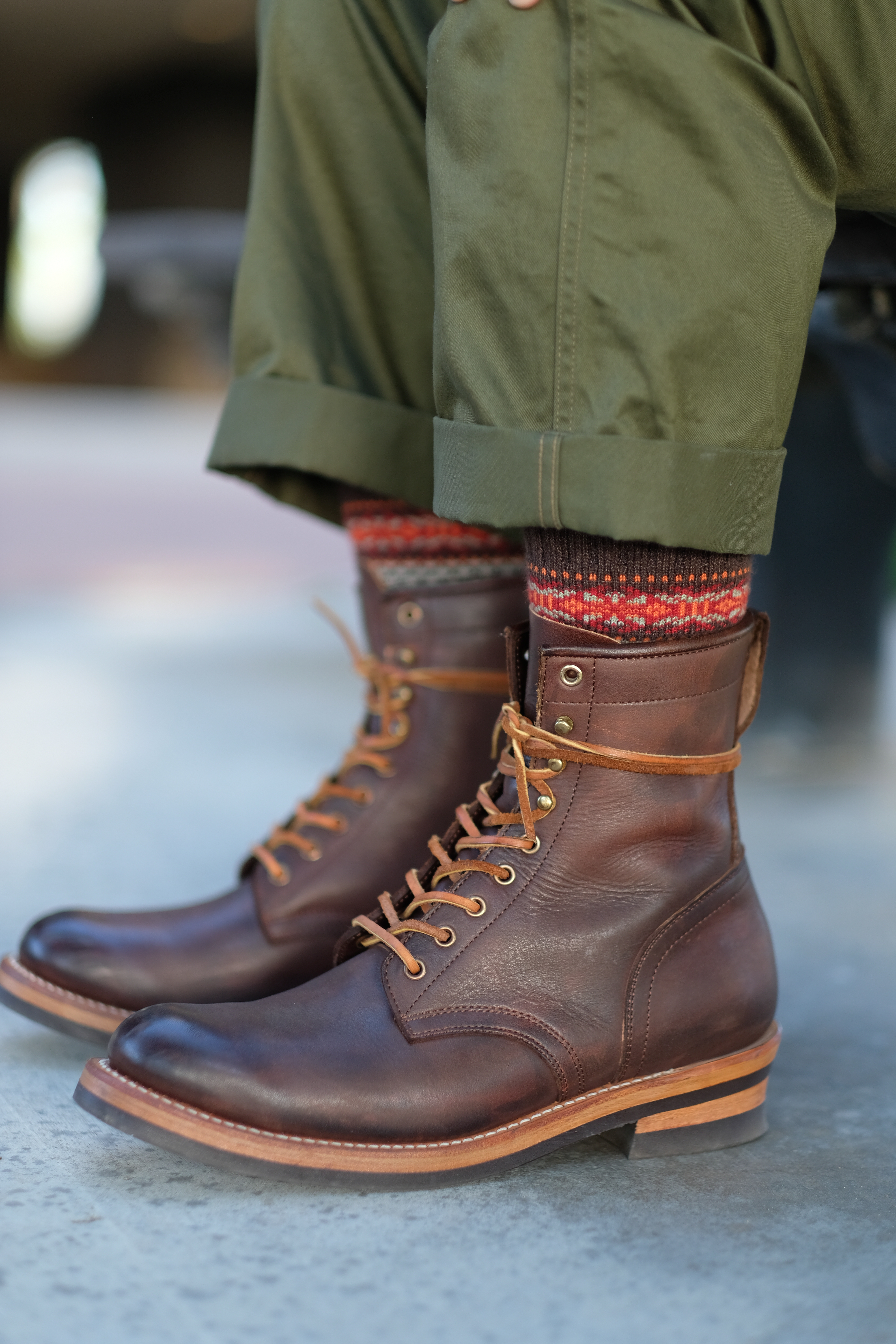 vegetable tanned work boots